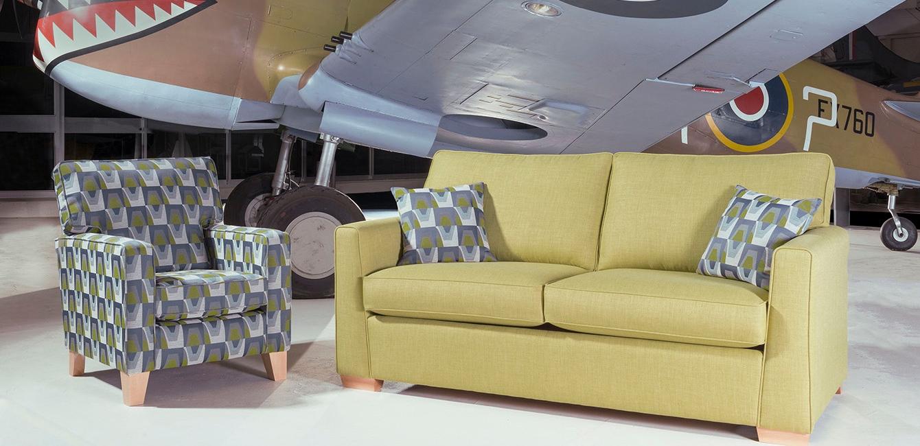 Hawk 3 seat sofa bed accent