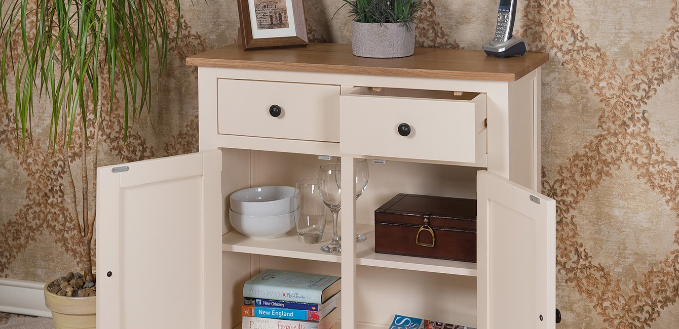 Oak Painted Small Sideboard