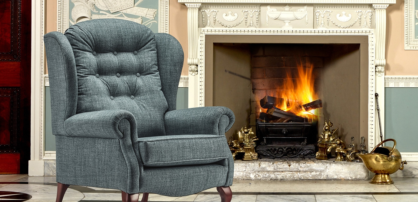 'Lynton' Fireside chair in Poseidon