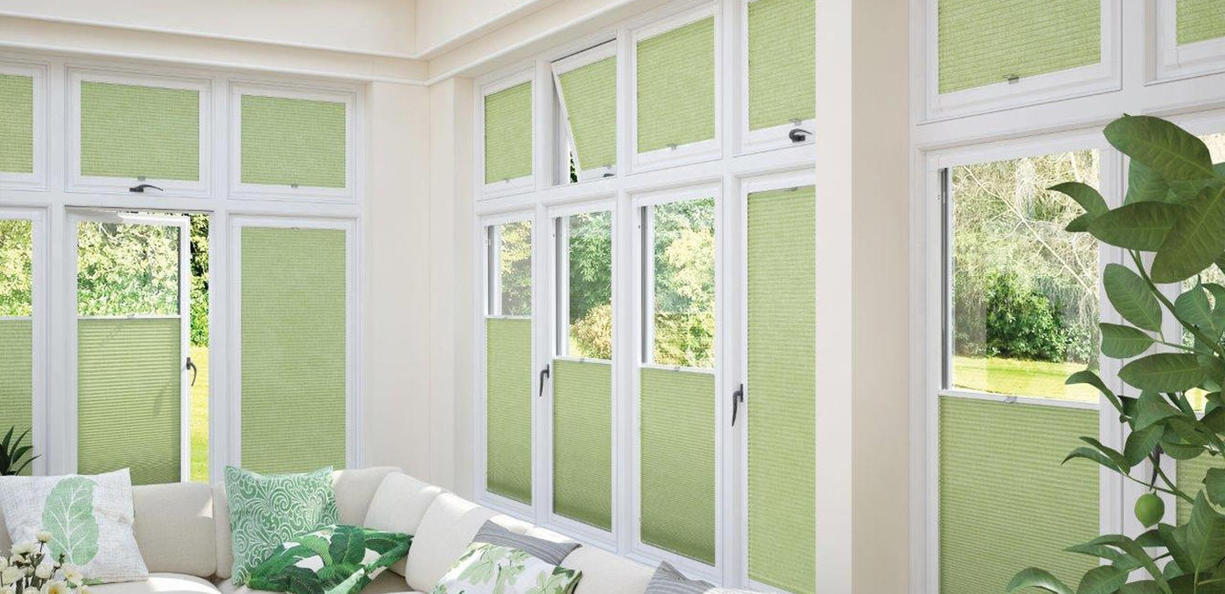 Perfect Fit Cellular Blinds in 'Lina Spring Mist'