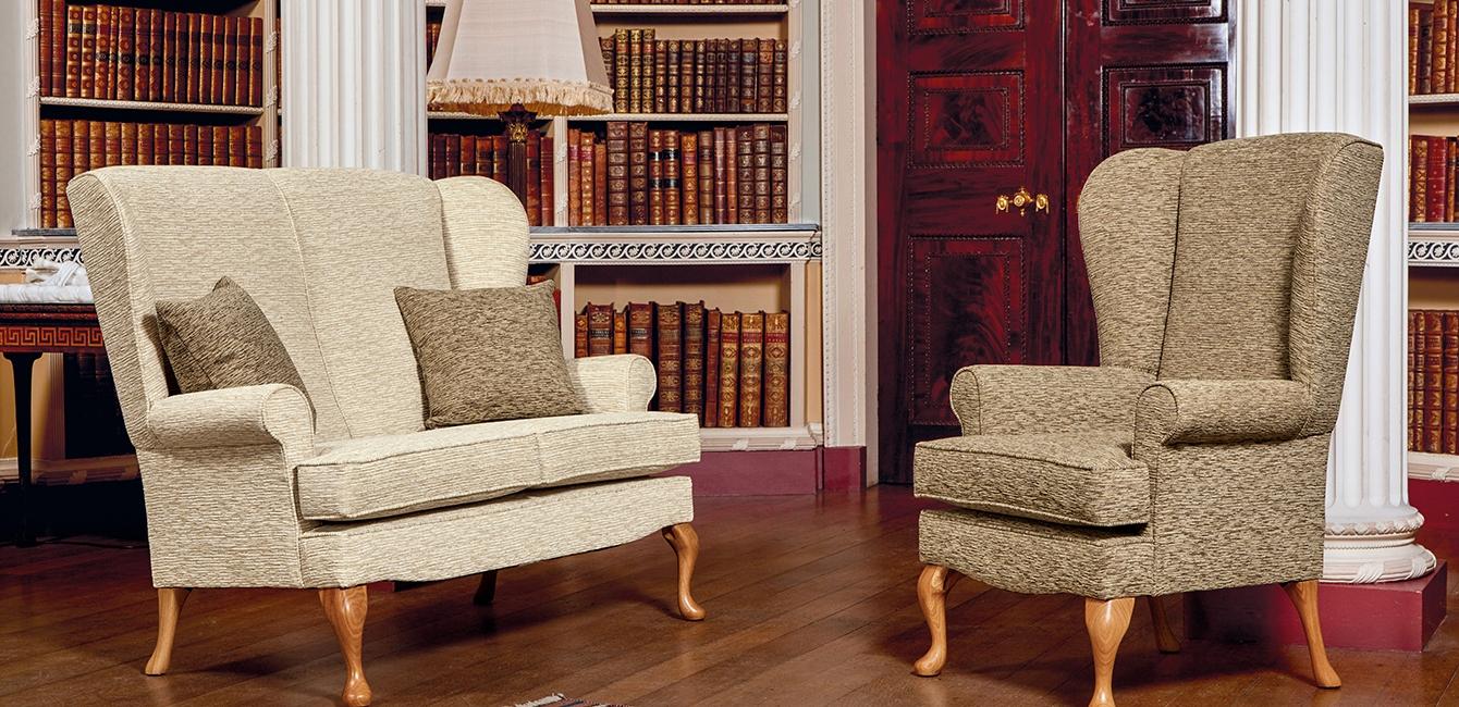 Buckingham Fireside Two Seater & Armchair