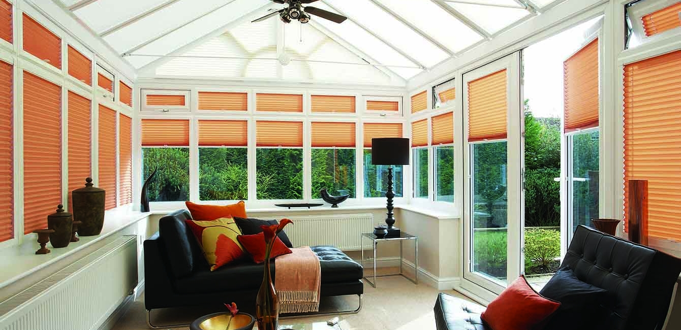 Perfect-Fit Pleated Blinds in 'Cirro Spc Apricot'