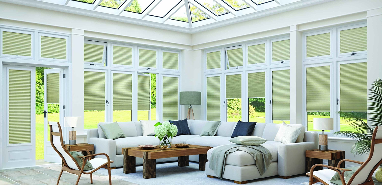 Cellular Perfect Fit Blinds in 'Sheer ESP Sandshell'