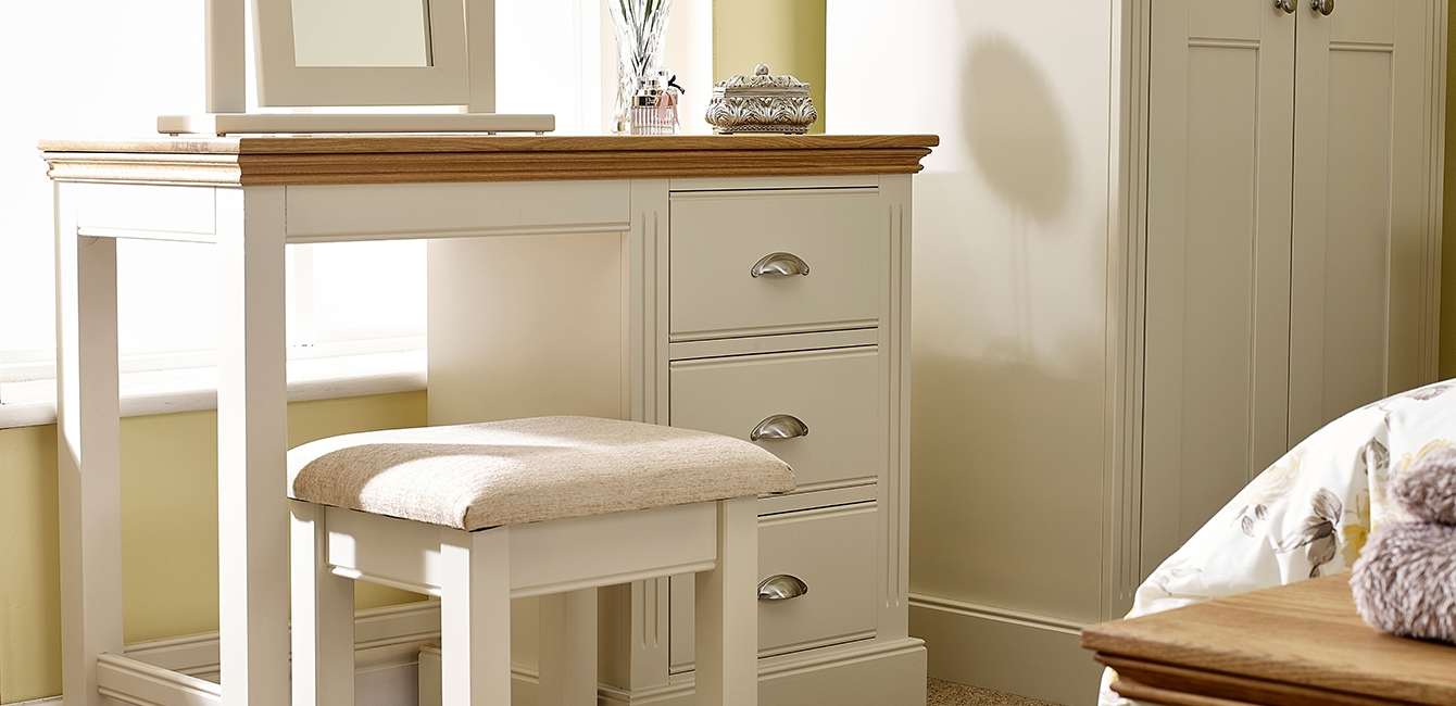 Kensington Dressing Table and Padded Stool