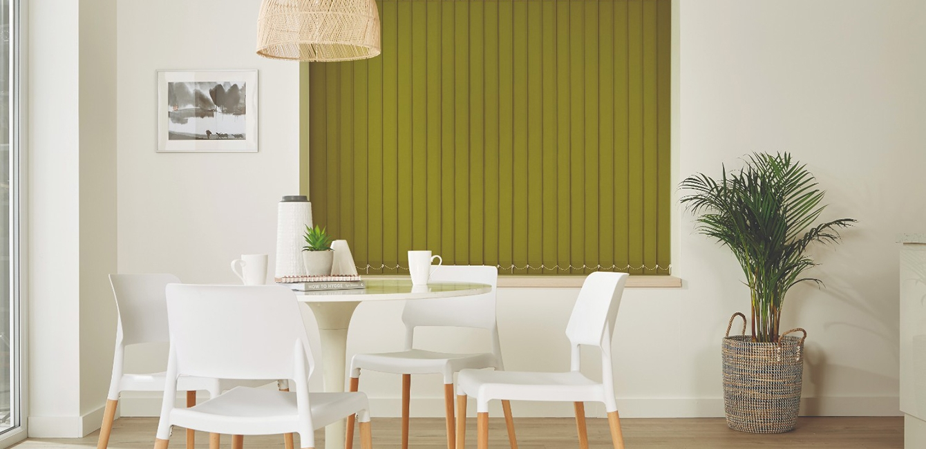 Vertical Blinds in Carnival Green