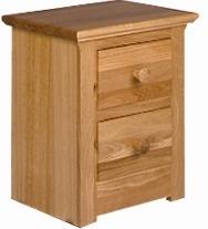 *REDUCED* Sienna - Solid Oak 2 Drawer Bedside